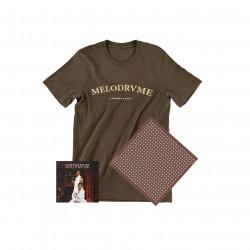 T-shirt marron Mélodrame homme + Album + carré de soie